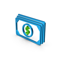 Symbol Banknotes Blue Metallic PNG & PSD Images