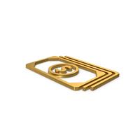 Gold Symbol Banknotes PNG & PSD Images