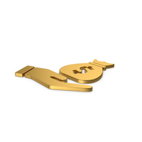 Gold Symbol Money Bag In Hand PNG & PSD Images