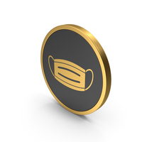 Gold Icon Virus Mask PNG & PSD Images