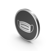 Silver Icon Virus Mask PNG & PSD Images