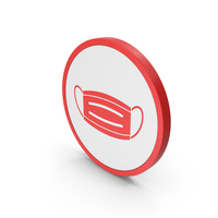 Icon Virus Mask Red PNG & PSD Images