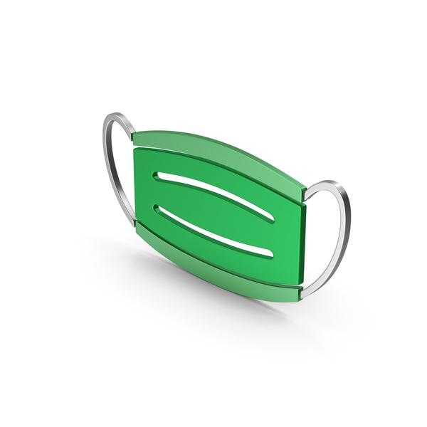 Virus Mask Green Metallic PNG & PSD Images