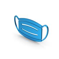 Virus Mask Blue Metallic PNG & PSD Images