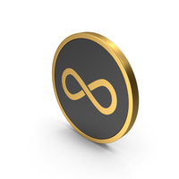 Gold Icon Infinity PNG & PSD Images