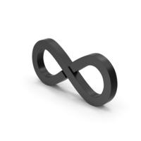 Symbol Infinity Black PNG & PSD Images