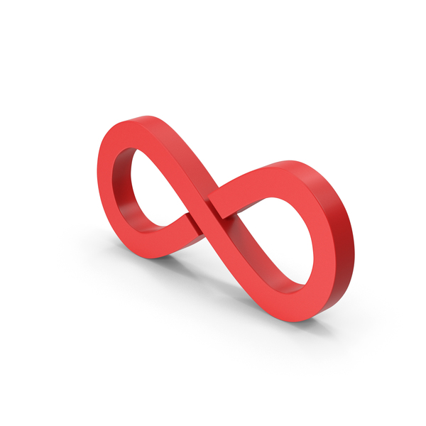 Symbol Infinity Red PNG & PSD Images