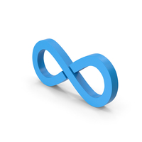 Symbol Infinity Blue PNG & PSD Images