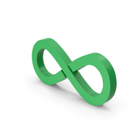 Symbol Infinity Green PNG & PSD Images