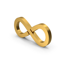 Symbol Infinity Gold PNG & PSD Images