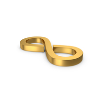 Gold Symbol Infinity PNG & PSD Images