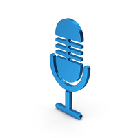Microphone Blue Metallic PNG & PSD Images
