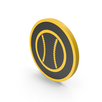 Icon Baseball Yellow PNG & PSD Images