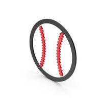 Symbol Baseball Red PNG & PSD Images