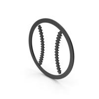 Symbol Baseball Black PNG & PSD Images
