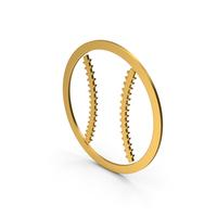 Symbol Baseball Gold PNG & PSD Images