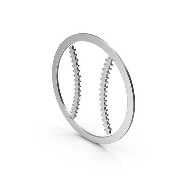Symbol Baseball Silver PNG & PSD Images