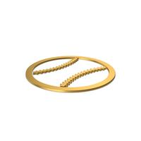 Gold Symbol Baseball PNG & PSD Images
