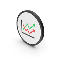 Icon Graph Chart Arrows Colored PNG & PSD Images