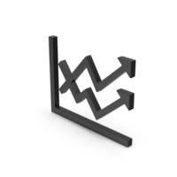 Symbol Graph Chart Arrows Black PNG & PSD Images