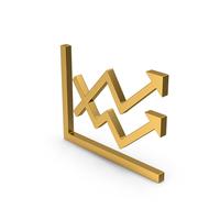 Symbol Graph Chart Arrows Gold PNG & PSD Images
