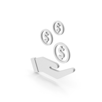 Symbol Dollar In Hand PNG & PSD Images