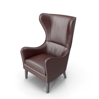 Havenly Garbo Leather Chair Red PNG & PSD Images