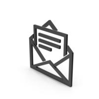 Symbol Letter With Paper Black PNG & PSD Images