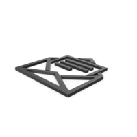 Black Symbol Letter With Paper PNG & PSD Images