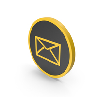 Icon Letter Envelope Yellow PNG & PSD Images