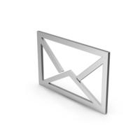 Symbol Letter Envelope Silver PNG & PSD Images