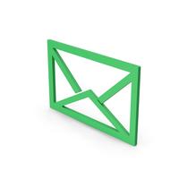 Symbol Envelope Green PNG & PSD Images