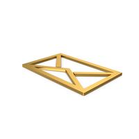Gold Symbol Letter Envelope PNG & PSD Images