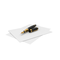 Fountain Pen and paper PNG & PSD Images