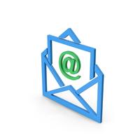 Symbol Email Envelope Blue Green PNG & PSD Images