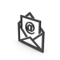 Symbol Email Envelope Black PNG & PSD Images