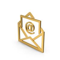 Symbol Email Envelope Gold PNG & PSD Images