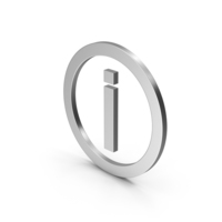 Symbol Inverted Exclamation Mark Silver PNG & PSD Images