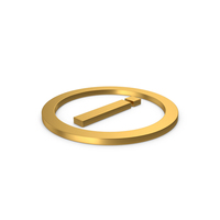 Gold Symbol Inverted Exclamation Mark PNG & PSD Images