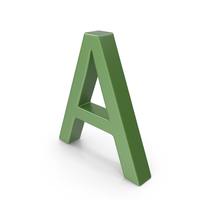 Letter A Green PNG & PSD Images
