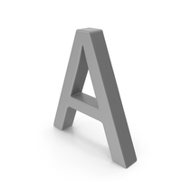 Letter A Grey PNG & PSD Images