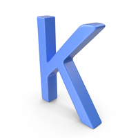 Letter K Blue PNG & PSD Images