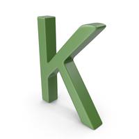 Letter K Green PNG & PSD Images