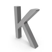 Letter K Grey PNG & PSD Images