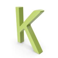 Letter K Light Green PNG & PSD Images