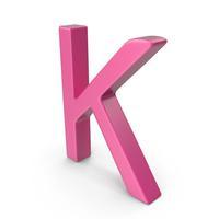 Letter K Pink PNG & PSD Images