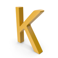 Letter K Yellow PNG & PSD Images