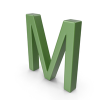 Letter M Green PNG & PSD Images