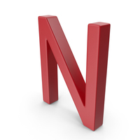 Letter N Red PNG & PSD Images