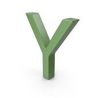 Letter Y Green PNG & PSD Images